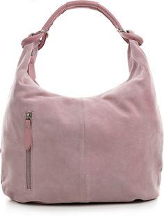 Leder Schultertasche / Handtasche / Ledertasche / City-Bag -  - Absolut trendige Hobo-Bag / Schultertasche / DIN-A4 geeignet - Aus echtem Veloursleder in Casual-Optik und mit einem Henkel in softem Glattleder - Oben wird das Modell per Top-Zipper (Reißverschluss) geöffnet. -Leder Schultertasche -  Cntmp CARA - Leder Schultertaschen - versandkostenfrei bei Bags & Brands.de bestellen