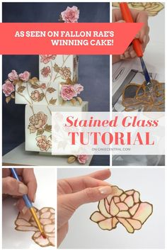 Making edible stained glass with Flexique Edible Fabric and Flexique Instant Lace Please read through the entire tutorial before getting started. Some things can be prepared ahead of time and require drying time.