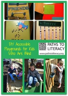 Play is Learning!  Check out these DIY Accessible Playground ideas for kids who are blind. Think about ways to introduce discovery, encourage curiosity, and grow with your child in a safe and independent playspace.