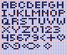 Mini Alphabet for Square Stitch or Loom
