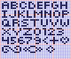 Free Loom Bead Patterns | Mini Alphabet for Square Stitch or Loom - Beadwork