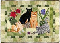 Cat Quilt Patterns | HOUSE CATS quilt pattern