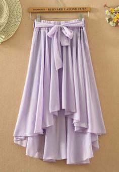 Boho Multiple Color Skirt Asymmetric Stretch Beach Skirt