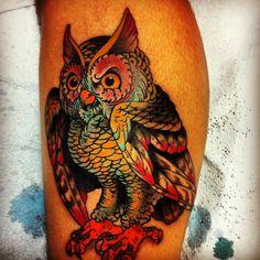 My new owl tattoo