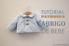 Une petite veste mi-saison proposée par Oh Mother Mine DIY de la taille 6 mois à 30 mois. Le patron est téléchargeable. Le tutoriel tout en vidéo (lien en dessous de l'article) en espagnol, est très facilement compréhensible ne serait ce que par les images....
