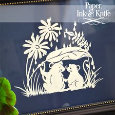 Shelter From the Rain - PaperCut Love me some cute little mice.