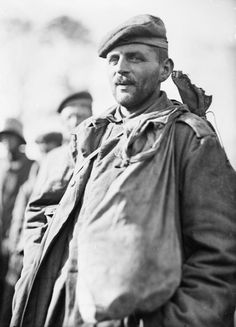 """AUSTRALIAN FIRST WORLD WAR OFFICIAL EXCHANGE COLLECTION (E (AUS) 884)   Originally captioned """"""""'Fritz'"""", one of the best types of prisoners captured during the recent battle (of 4 October)"""" : a half length photograph of a strong mature soldier."""