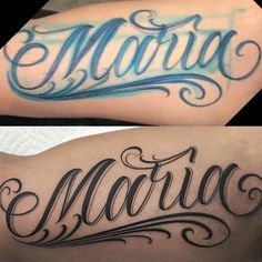 Image may contain: one or more people and closeup Tattoo Lettering Design, Chicano Lettering, Script Lettering, Tattoo Designs, Cursive Tattoos, Tattoo Script, Tattoo Fonts, Arm Band Tattoo, Graffiti Tattoo