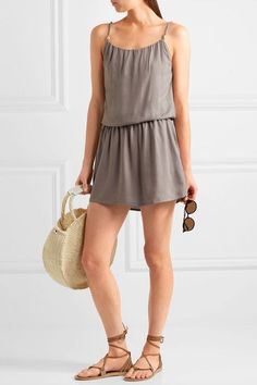 Heidi Klein - Huntington Beach Voile Mini Dress - Gray