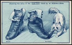 Showing the value of the A. S. T. Co. black tip on childrens shoes [front], 1894 - Advertising cards (19th Century American Trade Cards, Boston Public Library)