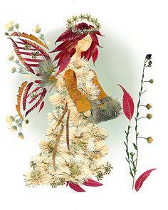 Fée fleur fantaisie décoration murale - Original « Fée de la compréhension » 8 x 10 Fine Art Print