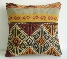 Sukan Hand Woven Turkish Kilim Pillow  g/67690980/sukan-hand-woven-turkish-kilim-pillow