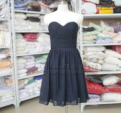 Navy Blue bridesmaid dresses chiffon bridesmaid by loveBaby2015