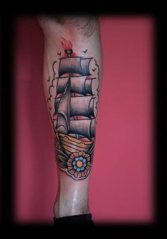 old school tattoo boat