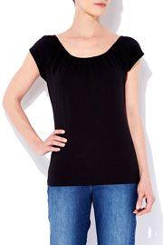 Black Jersey T-Shirt      #WallisFashion