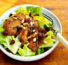 Slow cooker pomegranate-chicken salad