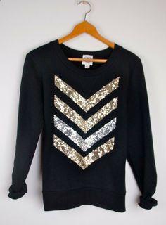 $48 [dazzle me chevron sweatshirt // i caught the sun | etsy] #fashion #sweater