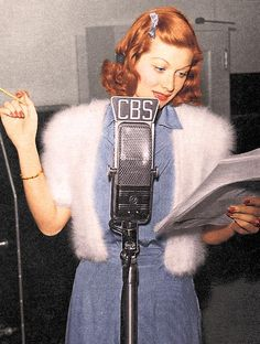 Lucille Ball performing on radio