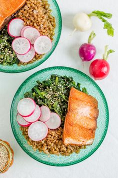 Recipe: Farro Bowl with Crispy Salmon and Toasted Sesame Spinach — Freezer-Friendly Grain Bowls from Sarah Crowder