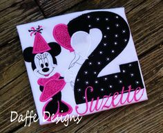 Minnie Mouse with Balloons Birthday Shirt by daffedesigns on Etsy, $25.00