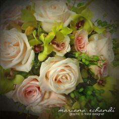 ramo de novia con orquideas y rosas