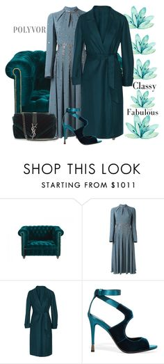 """Teal"" by ellenfischerbeauty ❤ liked on Polyvore featuring Valentino, Agnona, Tom Ford and Yves Saint Laurent"