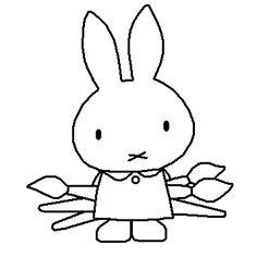 Kleurplaten Nijntje Kunstenaar.7 Beste Afbeeldingen Van Dagritme Kaarten Psz Miffy Bunny En