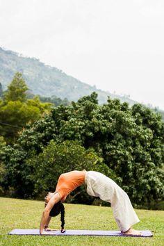 Yoga wheelPose