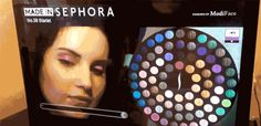 Sephora's augmented reality mirror lets you test makeup without putting it on #ar