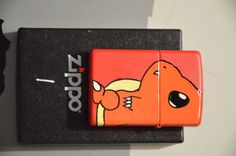 Charmander Zippo/Lighter Cool Lighters, Pokemon, Zippo Lighter, Charmander, Good Ol, Cigar, Edc, Pop Culture, Panda