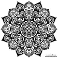 Stipple Mandala 3 by WelshPixie.deviantart.com on @DeviantArt