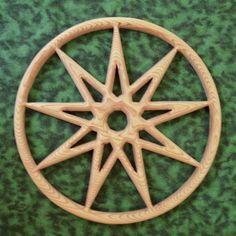 Bahai Symbol of Faith - Encircled Nine-pointed Star