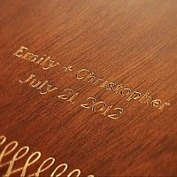 Love letter lock box engraved with bride and groom's names and wedding date