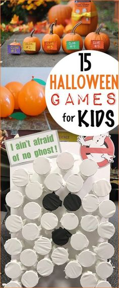 Halloween Games for Kids. Creative DIY games for class parties. Budget friendly Halloween games and activities for families. Boo Punch a Prize, Pumpkin Toss, Erase the Pumpkin, Spider Races and more.