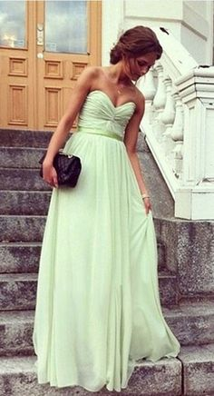 #beautiful color! I love dresses like this period, but the pastel touch really wraps it up