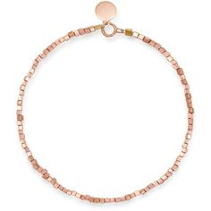 Lily flo jewellery - hannover square rose gold bracelet (£95) ❤ liked on Polyvore featuring jewelry, bracelets, rose gold jewellery, rose gold bangle, square bangles, initial bangle and sparkle jewelry