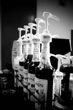 Monin Syrups. Great caramel, vanilla and hazelnut syrup for adding to coffee.