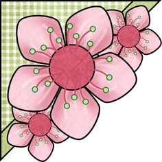 90 Page Corner Rock Flowers, Quilt Border, Quilt Labels, Art Corner, Decoupage Vintage, Flower Clipart, Flower Doodles, Scrapbook Embellishments, Copics