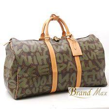 969c76a99cc3 RARE Louis Vuitton Monogram Stephen Sprouse GRAFFITI KHAKI Keepall 50  Boston Bag Boston Bag