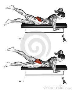 Fitness exercising. Alternate Leg Reverse Hyper. Female