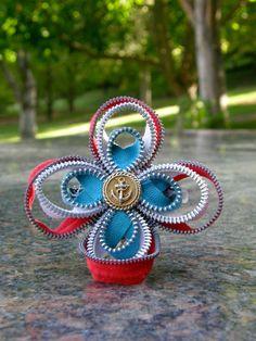 4th of July Zipper Flower :)