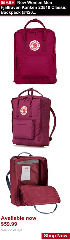 Unisex accessories: New Women Men Fjallraven Kanken 23510 Classic Backpack (#420 Plum) BUY IT NOW ONLY: $59.99