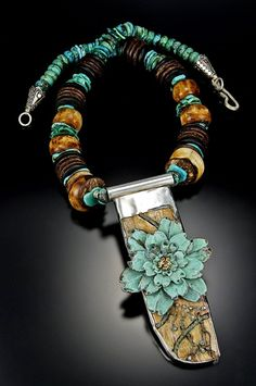 Clinging Vine Copper Blue by BondsJewels on Etsy, $975.00