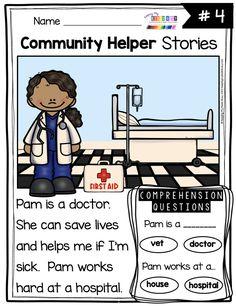 Community Helpers Kindergarten, Community Helpers Activities, Kindergarten Social Studies, Kindergarten Science, Kindergarten Reading, Preschool Workbooks, Preschool Activities, Space Activities, English Grammar For Kids