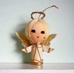 Sweet Vintage Angel Ornament Made in Japan by kitschparade on Etsy, $7.00
