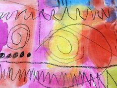 Kandinsky inspired line painting for Kinder