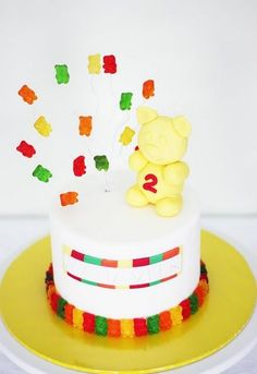 Gummy Bear Cake. ^