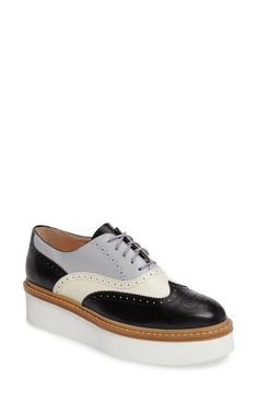 Tod's Brogue Platform Oxford