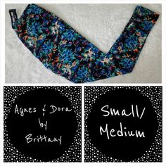Leggings - Explosion of blue blossoms    Brittney 3/6 Received  3/9 - sold 4/1
