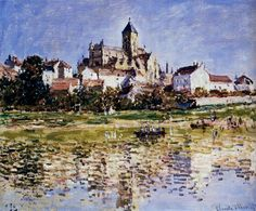 The Church At Vetheuil - Claude Monet
